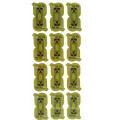 Die Cut Green Round Custom Logo Impression Autocollants / Sticker mural / Autocollant papier