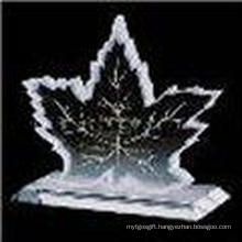 New Design Maple Leaf Crystal Image