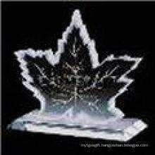 New Design Maple Leaf Crystal Image