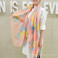Горячие продажа очаровательная Корея глушитель шарф цветы печать чистый хлопок шарф