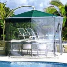 Parasol pour patio Moustiquaire