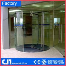Tempered Glass Hand Open Manual Revolving Door