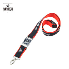 High Quality Metal Buckle Woven Double Layer Lanyard