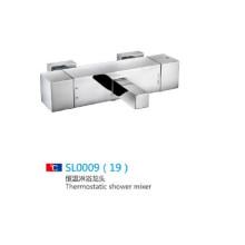 Misturador termostático de chuveiro de banheiro cromado em venda quente