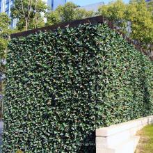 12 piezas 50 x 50 cm al aire libre recubierto de pvc anti-uv planta de la planta de vida artificial para la cubierta antiestética
