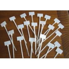 Sujetacables de marcador de plástico de nailon con color blanco