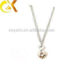 Collares pendientes de las mujeres al por mayor de la plata de la joyería del acero inoxidable