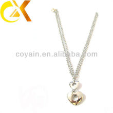 Ожерелья оптовой продажи нержавеющей стали ювелирных изделий серебра женщин привесные