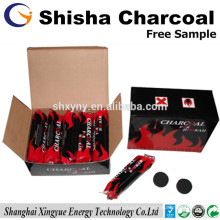 Carvão redondo de 33mm para cachimbo de coco Shisha Carvão