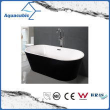 Black Surround Oval Free-Standing Acrylic Bathtub (AB1507B-1500)