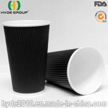 Taza de café desechable de papel de pared de 16 oz (16 oz)