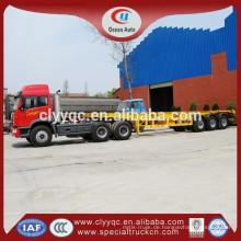 40t Pritsche Auflieger, 40GP Container LKW Anhänger, 3axle Tri-Achs-Low-Bett-Sattelanhänger