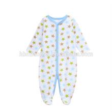 Таможня напечатала хлопок новорожденный одежда с длинным рукавом звезда печатных детские мальчик зима ползунки детская одежда