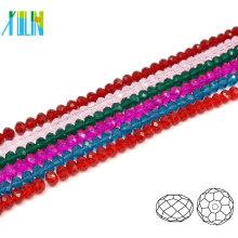 A5040 # -2 YIWU Fabricação De Vidro Especial Cor Frisado Jóias Facetada Cristal Rondelle Beads