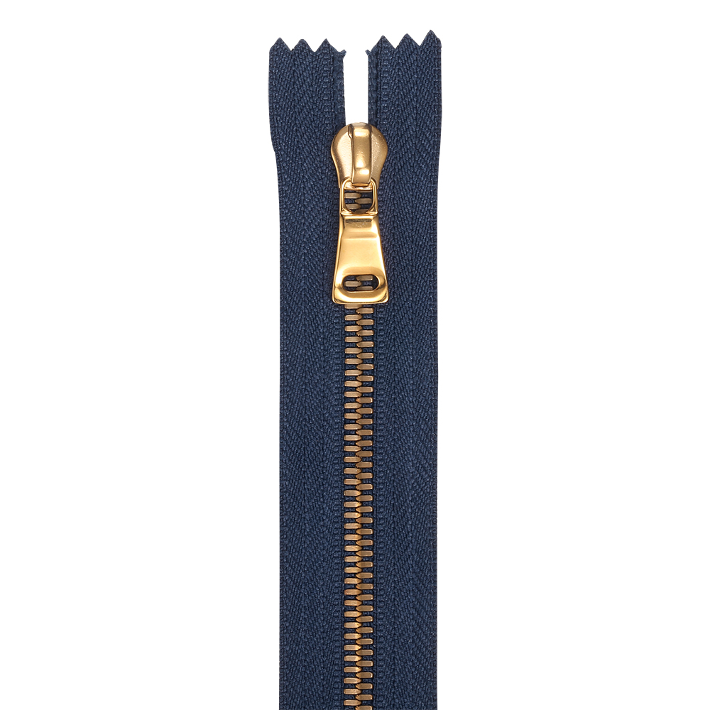 Popular tipo de millo Brass Teeth Metal Zip