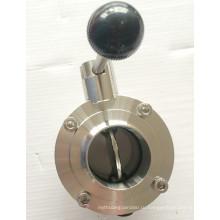 DIN / SMS / 3A из нержавеющей стали санитарно ручной клапан-бабочка с вытягивая ручка / многофункциональная ручка