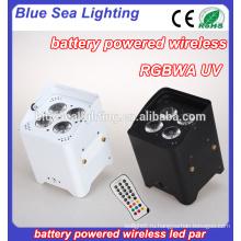 Горячее 4mcs RGBWA + UV dmx 4PCS 18W для венчания вел свет par