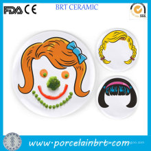 Creative Food Face Wholesale Dinner Plates