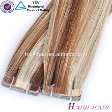 Populares na América por atacado grossas extensões de cabelo fita adesiva