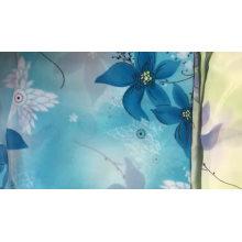 Шифоновая ткань цветок дешевая шифоновая набивная ткань
