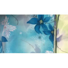 Tecido de chiffon com flores tecido estampado de chiffon barato