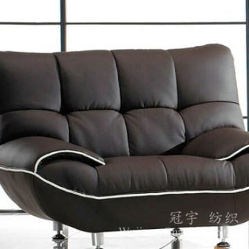 Tissu 100% de daim de polyester de faux cuir pour la décoration à la maison