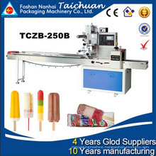 2015 Hot sell model TCZB-250B Ice lolly Flow Pack Machine with good quality factory price