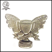 Silver Trophy cup shape metal badge