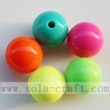 Popular Design for Round Plastic Beads Multi Fluorescent Solid Opaque Jewelry Acrylic Bead export to Cyprus Supplier