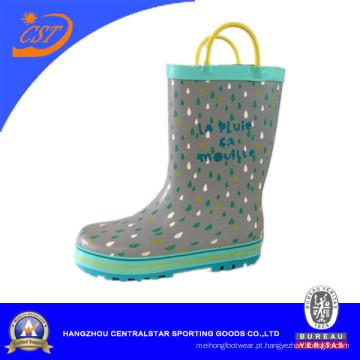 Filhos de pingos de chuva chuva botas com alças Kr026