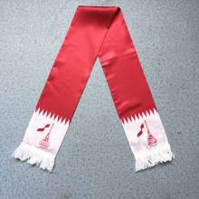 Qatar FIFA Scarf Silk Screen Printing Satin Fabric Football Fan Scarf
