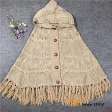 Spring Autumn Ladies Knitting Cardigan Sweater Cape