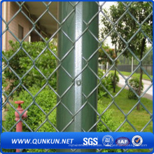 Galvanized PVC Coated Security Chain Link Mesh Fence Withg Factory Price