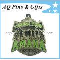 Corriendo medalla con color verde