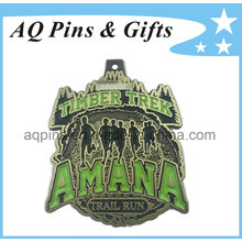 Running Medal with Green Color