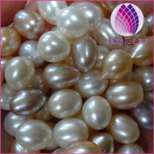 wholesale price loose freshwater colorful rice pearl 10-11mm with hole for wholesale