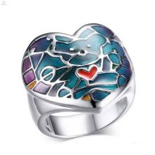 Joyería linda de los anillos del color del esmalte del acero inoxidable de la alta calidad