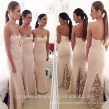 Vente en gros de bonne qualité Nouvelle robe demoiselle d'honneur en dentelle formelle longue longueur à la dentelle LB29