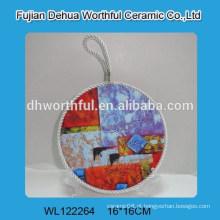Promoção porta pote de cerâmica com corda de elevação