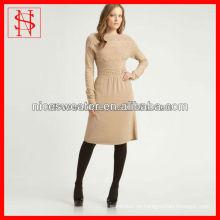 venta larga del vestido del suéter de la señora elegante