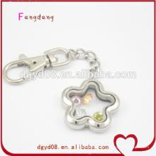 Porte-clés blanc forme fleur pour les filles