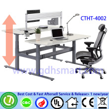 cashier table design Two seats in front height adjustable computer desk office desk price