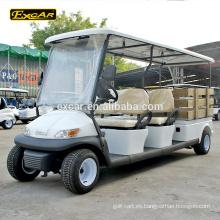 Combustible eléctrico tipo 48V 4 personas Seaters con carrito de golf de carga funcional para la venta