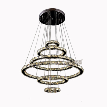 candelabros led lámparas decorativas Round Crystal Modern