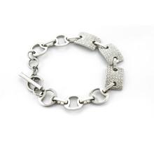 Wholesales aço inoxidável jóias modernas infinidade pulseira com zircão pulseira