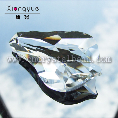 Lüster Kristall Glas Tropfen 38mm Farbe grün emerald octagon klar Kronleuchter