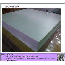 Feuille de PVC opaque blanche gaufrée pour l'impression offset