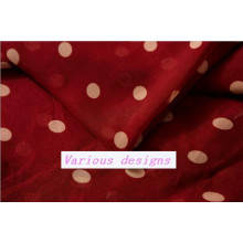 New Polka DOT Printed 100% Polyester Chiffon Fabric for Ladies Garments