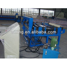 Metal sheet cut to length machine with film covered