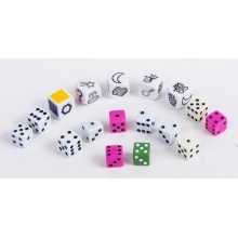 Customized Plastic Dice Game Set